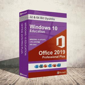 Windows 10 Education & Office 2019 Pro Plus Dijital Ürün Anahtarı