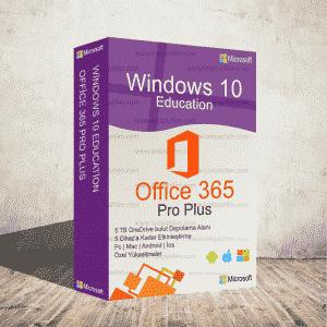 Windows 10 Education & Office 365 (5 Kullanıcı & 5 Tb Onedrive)
