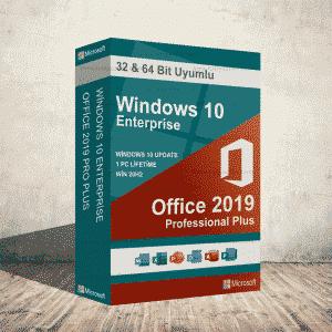 Windows 10 Enterprise & Office 2019 Pro Plus Dijital Ürün Anahtarı