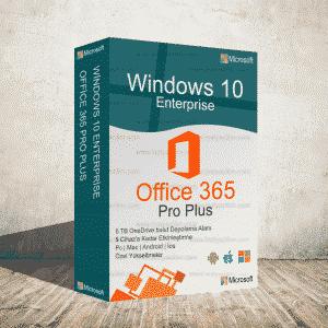 Windows 10 Enterprise & Office 365 (5 Kullanıcı & 5 Tb Onedrive)