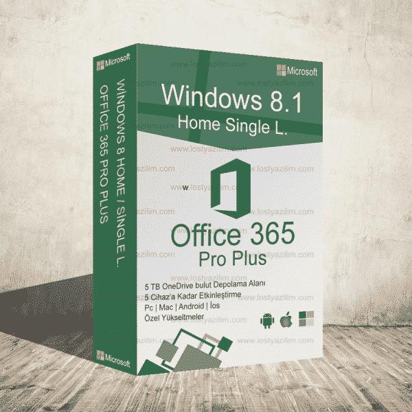 Win 8.1 Home ve Office 365 Eğitim