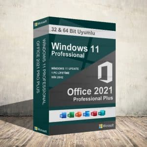 Windows 11 Pro & Office 2021 Pro Plus Dijital Ürün Anahtarı